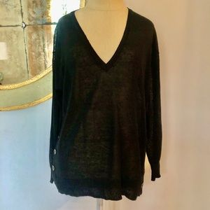 J Crew Lightweight V-Neck Pullover Sweater